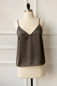 cami tank top in olive green