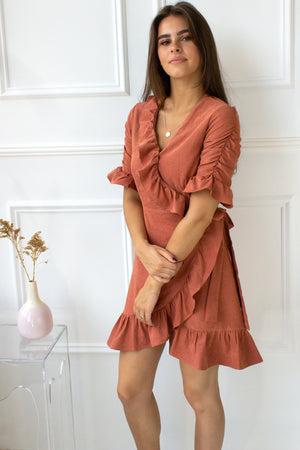 dress with ruffles