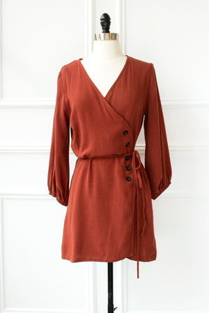 Stevie Tunic Mini Dress - rust
