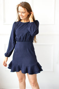 Sapphire Open Back Bow Dress