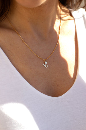 initial name necklace in 14k gold filled or sterling silver