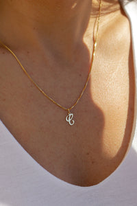 script letter necklace for the perfect gift