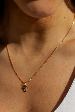 personalized pendant necklace with a minimal box chain