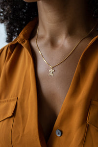 Script Initial Necklace - Christine Elizabeth Jewelry