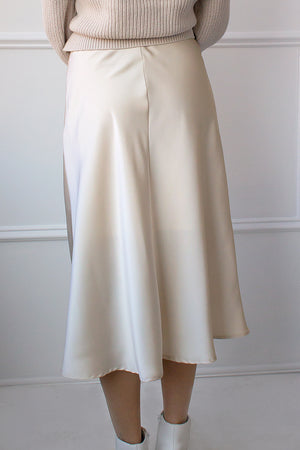 affordable satin skirt