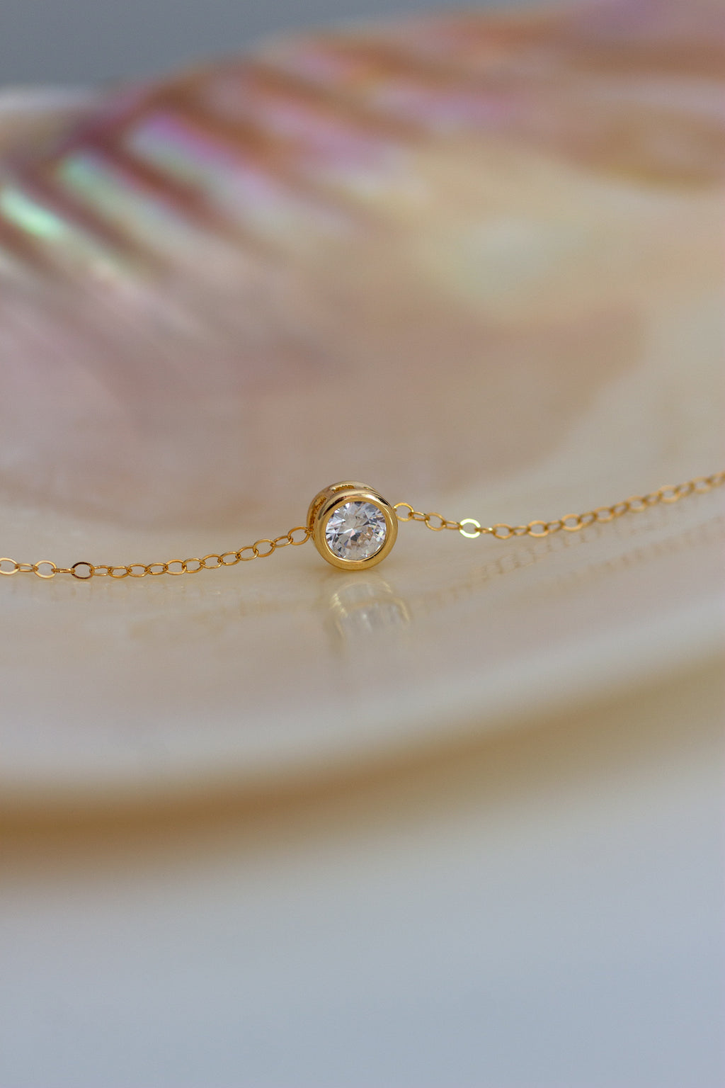 Minimalist Suspended Solitaire Necklace - Christine Elizabeth Jewelry