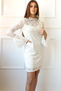 Jolina Lace Dress - white