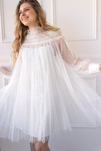 Della Swiss Dot Tulle Dress