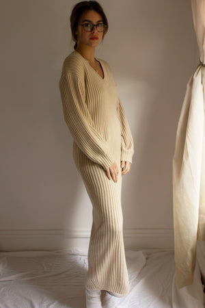 relaxed fit long sweater dress