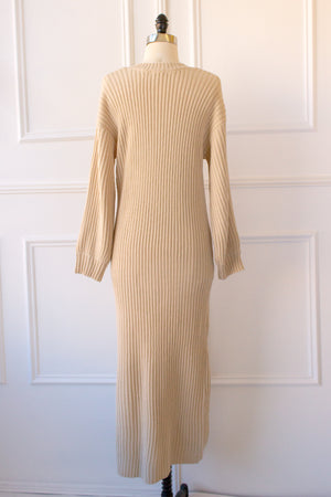 long cozy sweater dress style