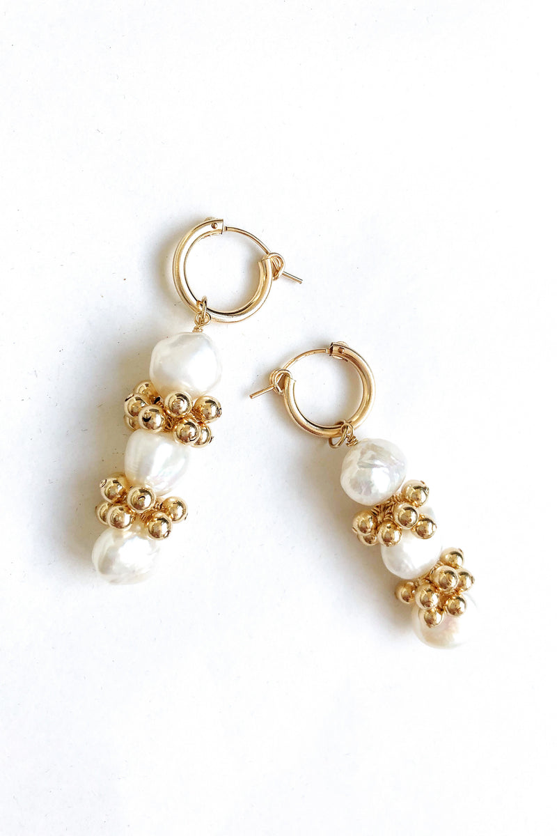 hoop earrings with pearls