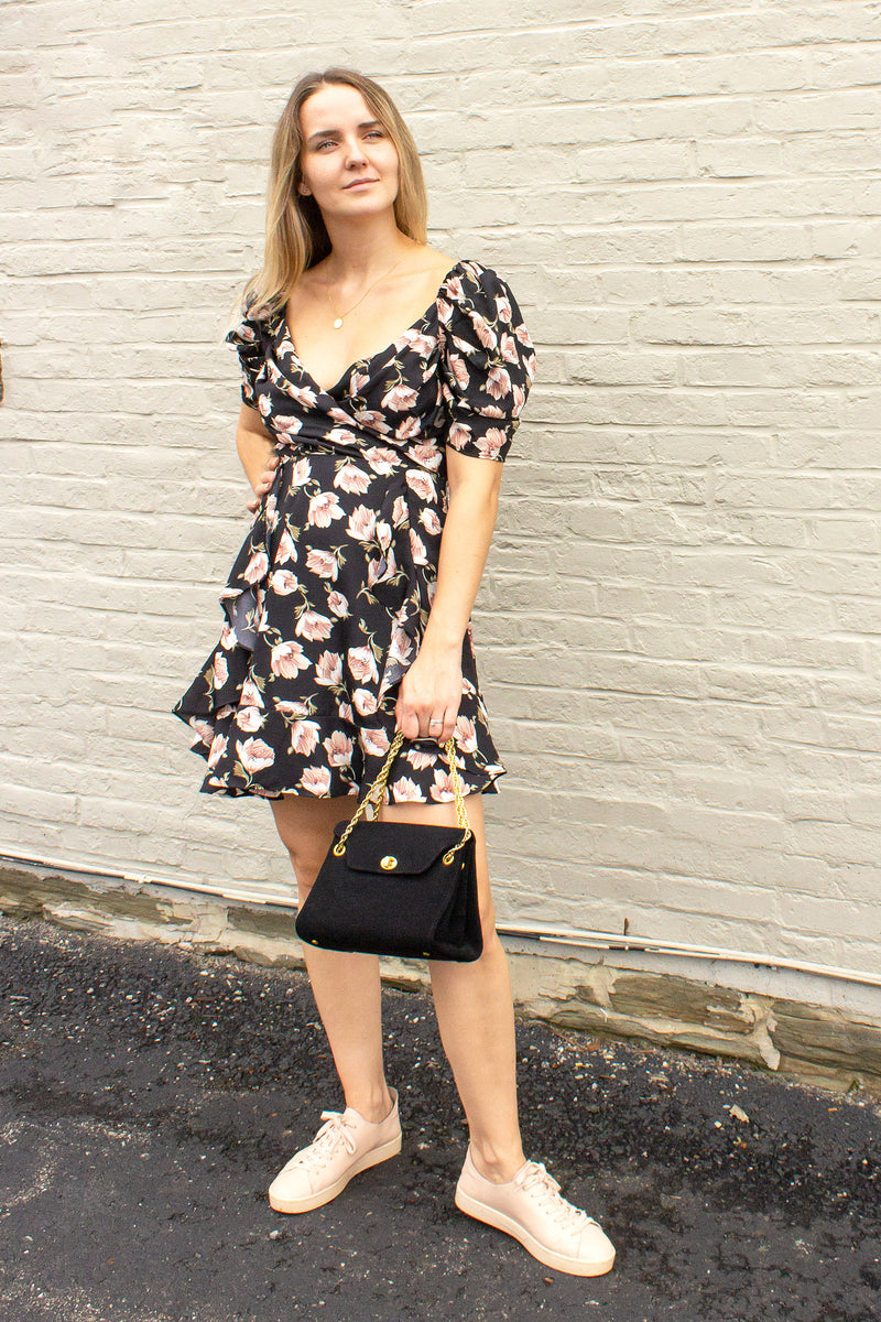 Everine Floral Dress - black