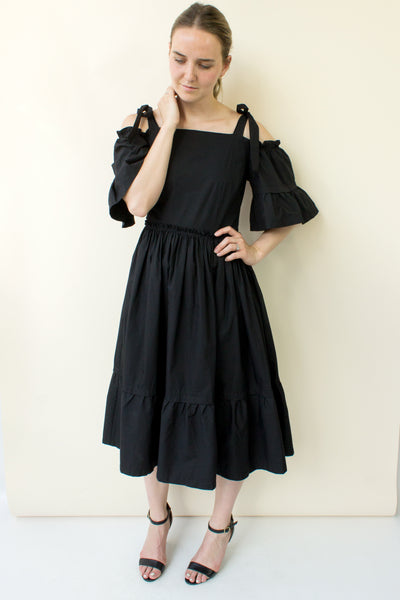 Emmalyn Off the Shoulder Dress - black