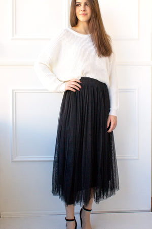 Juliette Tulle Skirt - black