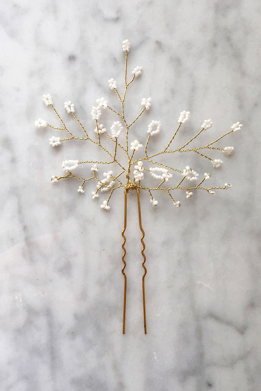 Baby's Breath Hair Pin - Christine Elizabeth Jewelry