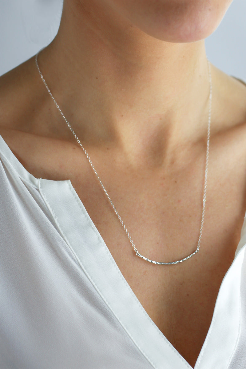 Hammered Crescendo Necklace - Christine Elizabeth Jewelry