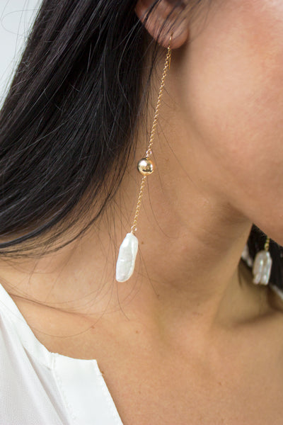 X-tra Long Biwa Earrings - Christine Elizabeth Jewelry