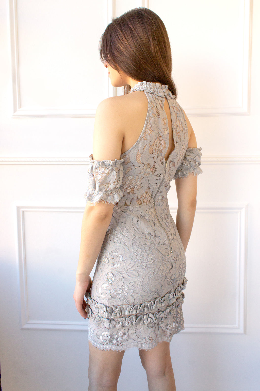 Eloquinn Lace Dress - gray