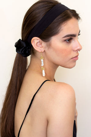 pearl statement earrings