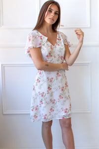 floral chiffon dress for spring
