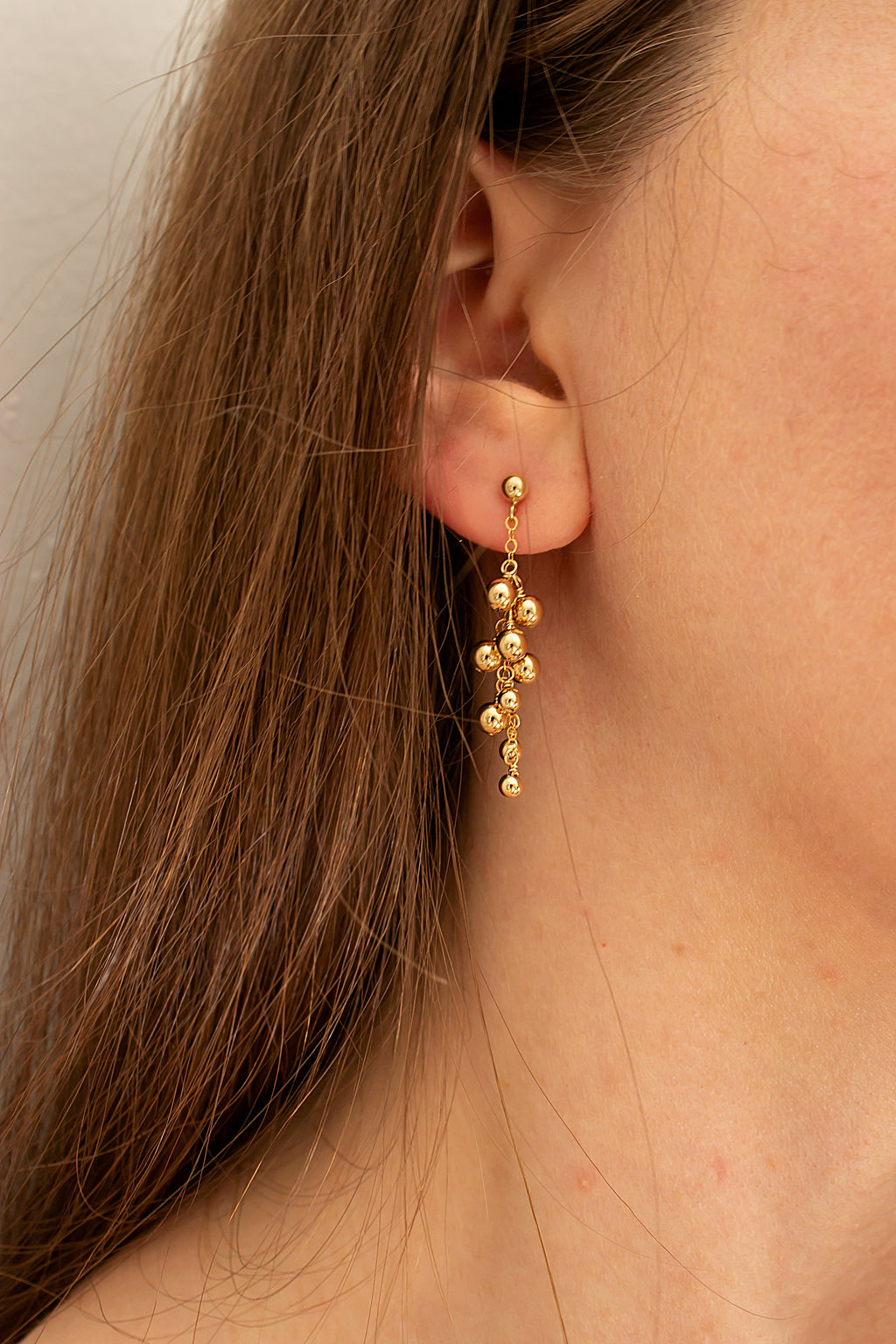drop earrings on posts