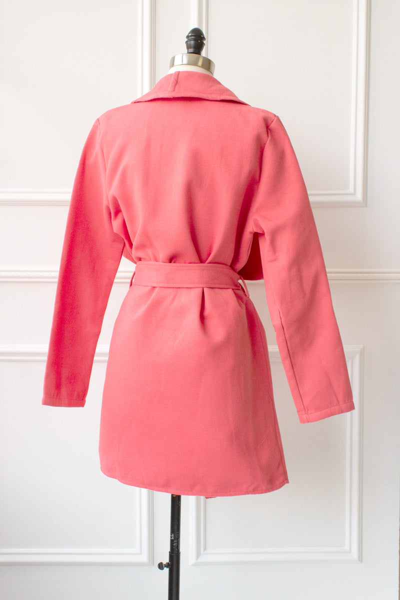 Kendall Wrap Jacket - coral