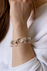 Keshi and Quartz Bracelet - Christine Elizabeth Jewelry