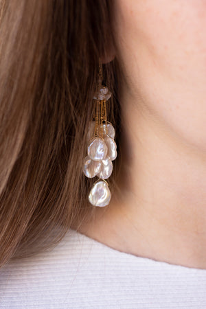 Keshi Pearl Waterfall Earrings - Christine Elizabeth Jewelry