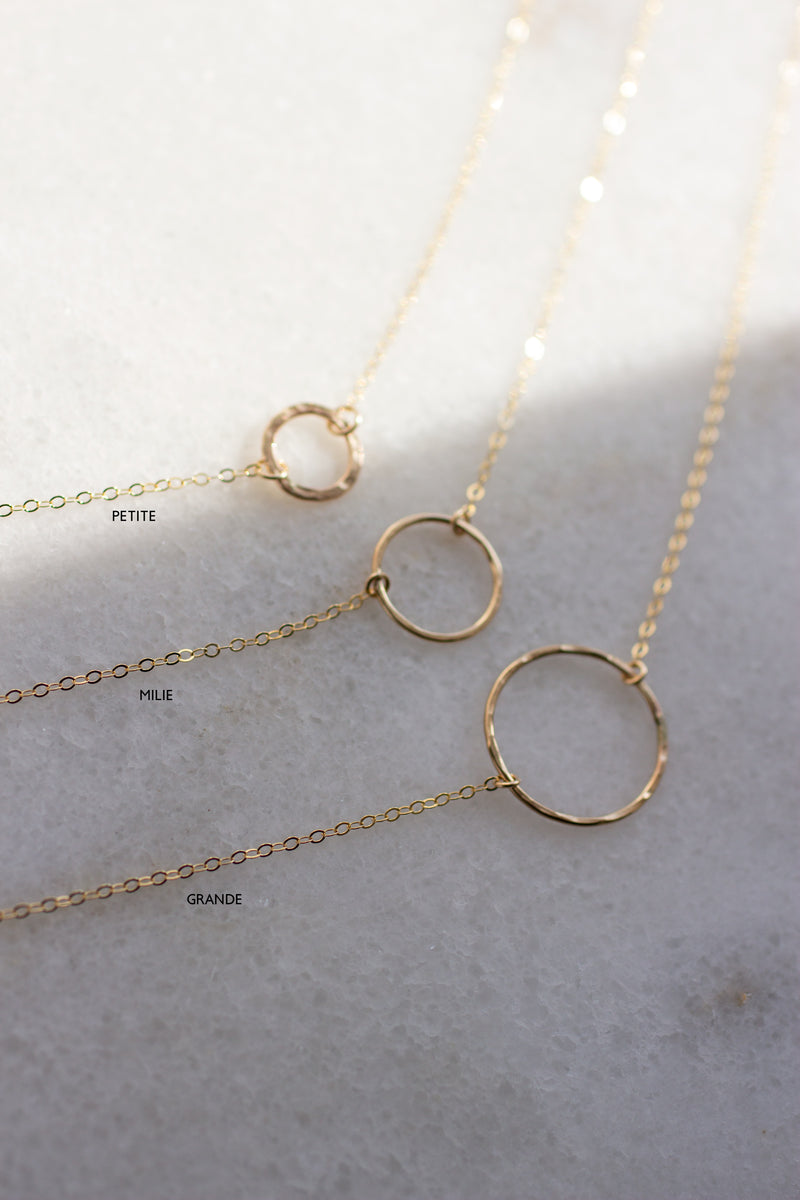 Milie Hammered Ring Necklace - Christine Elizabeth Jewelry