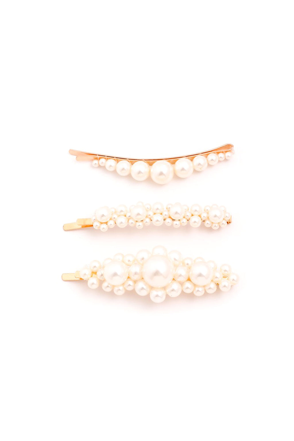 Pearl Hair Clip - set of 3