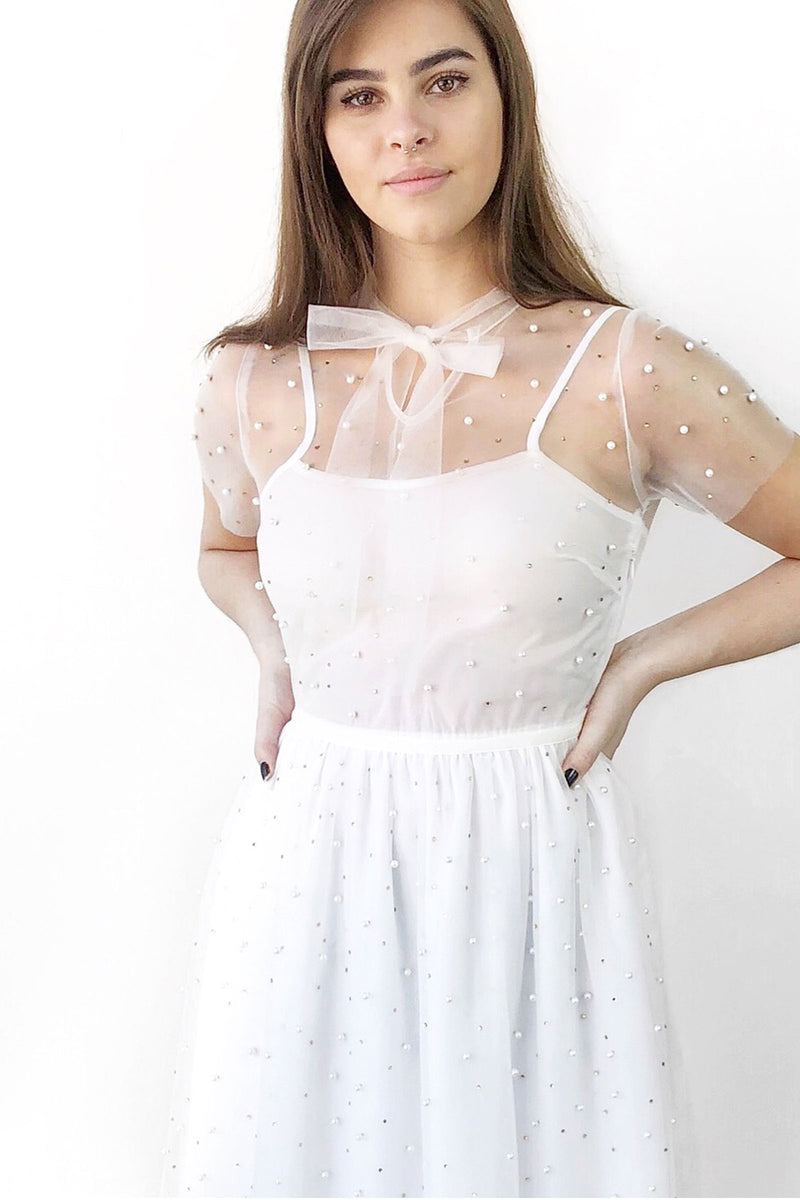 Pearl Tulle Dress