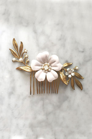 Sweet Pea Hair Comb - Christine Elizabeth Jewelry