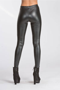 Vegan Leather Leggings - black