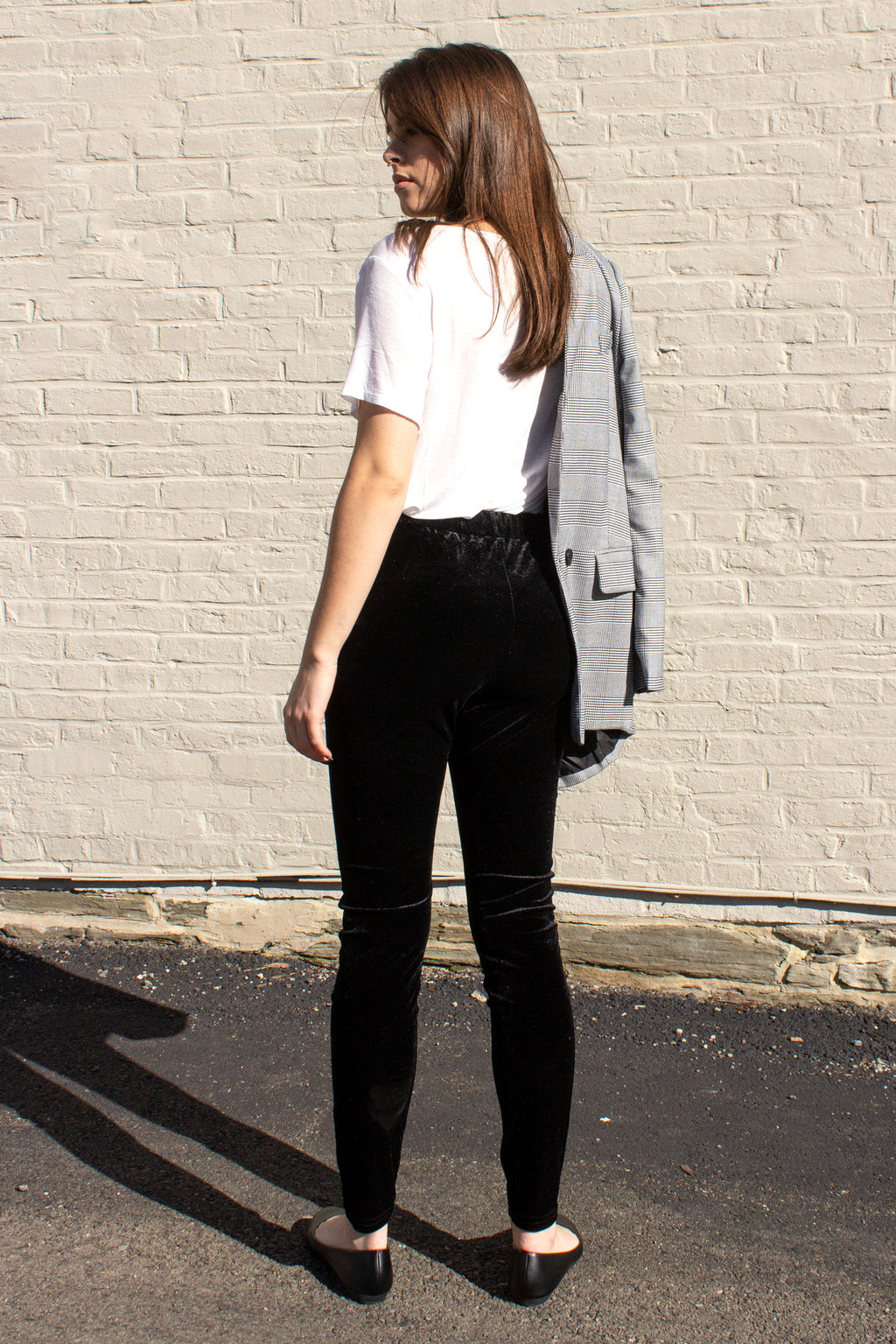 affordable velvet skinny pants