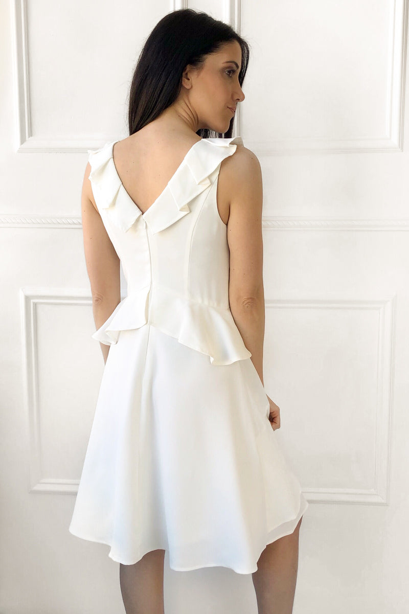 Lilianna Ruffle Dress - white