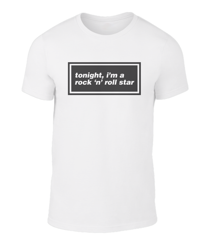 Tonight I'm a Rock 'n' Roll Star - Oasis - Lyric T-Shirt
