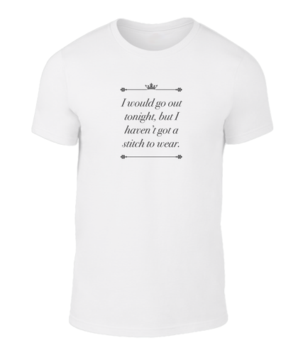 I Would Go Out Tonight - The Smiths - This Charming Man - Lyric T-Shirt