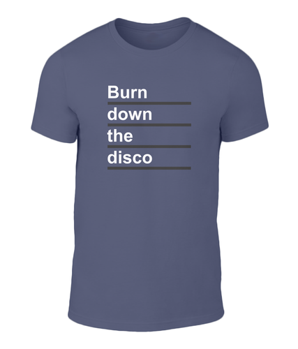 Burn Down The Disco - Panic - The Smiths - Lyric T-Shirt