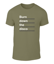 Load image into Gallery viewer, Burn Down The Disco - Panic - The Smiths - Lyric T-Shirt