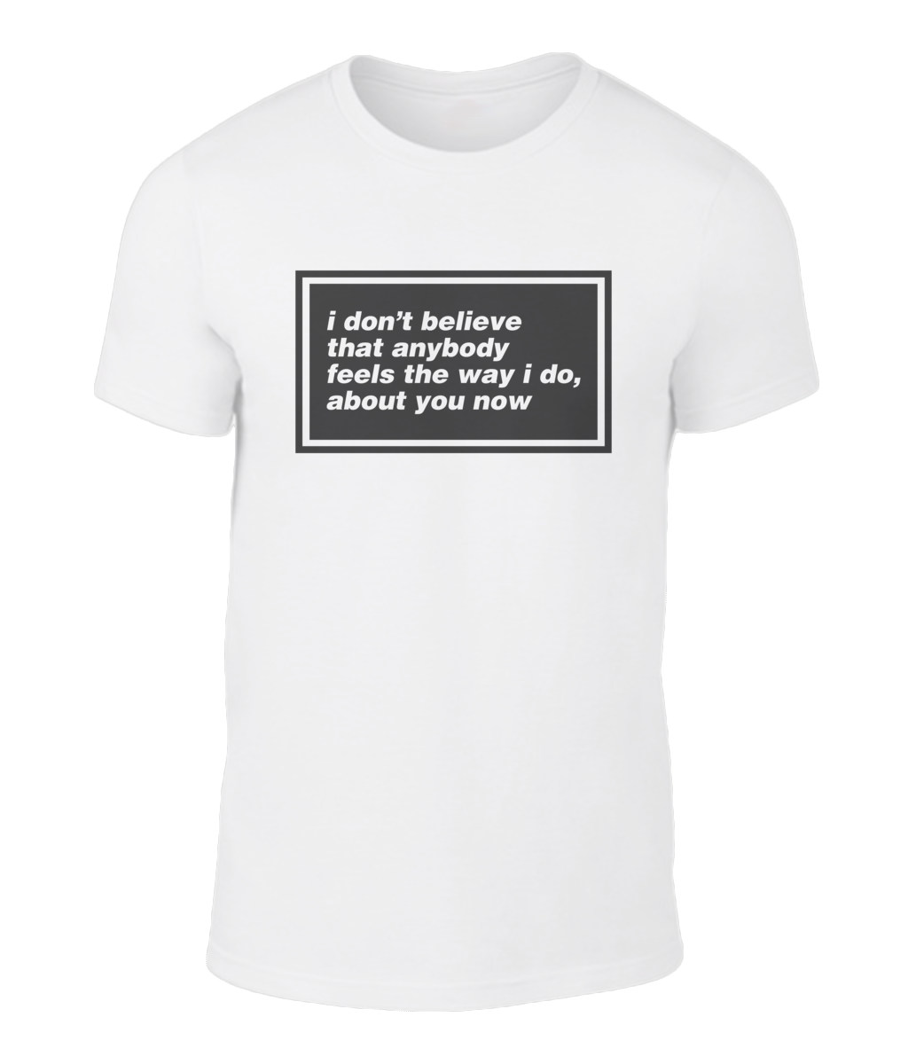 I Don't Believe That Anybody - Oasis - Wonderwall - Lyric T-Shirt