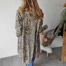 Fashion Leopard Print Hooded Windbreaker