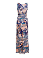 Dovechic Ethnic Style Sleeveless V-neck Maxi Dress