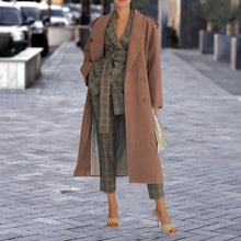 Women's Fashion Long Sleeve Slim Coat
