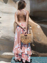 Dovechic Lace Split-joint Backless Maxi Dress