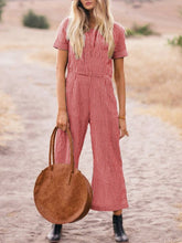 Casual Short Sleeve Jumpsuits