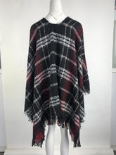 Contrast Lattice Tassel Sweater Shawl Coat