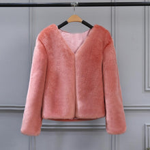 Women's Fashion Solid Colour Fur Coat