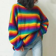 Fashion Round Neck Color Matching Sweater