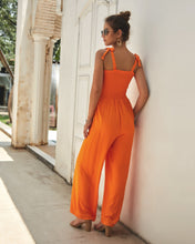 Four-color elastic sling sexy jumpsuit