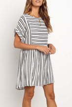 Cotton&Linen Striped Casual Dress